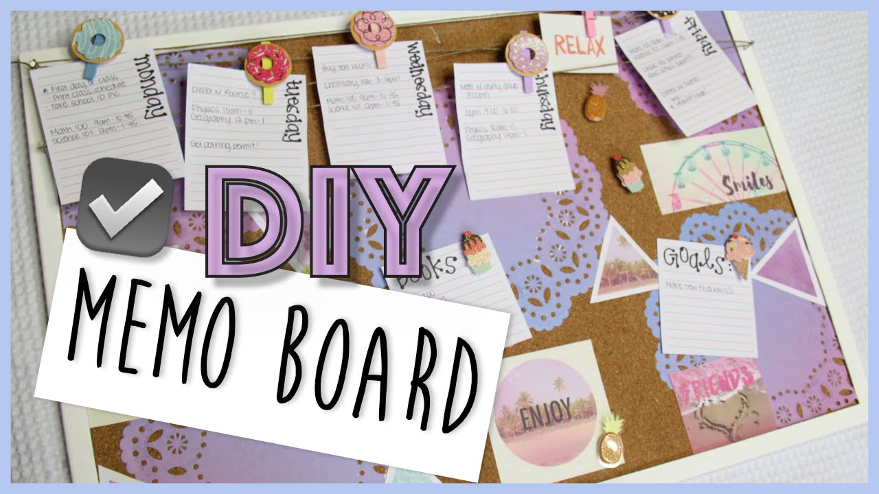 how to make a memo cork board diy easy school diy youtube. Black Bedroom Furniture Sets. Home Design Ideas