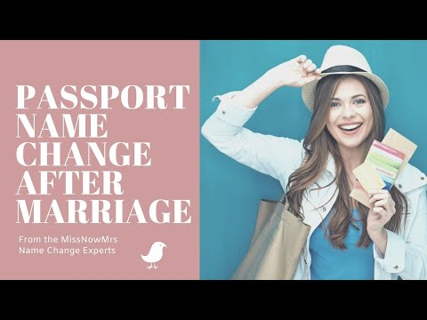 Passport Name Change After Marriage
