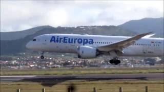 PRIMER ATERRIZAJE EN LOS RODEOS (GCXO) DEL BOEING 787 DREAMLINER DE AIR EUROPA.