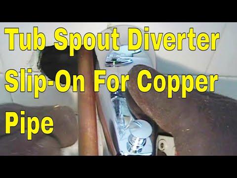 Tub spout diverter slip on for copper pipe 👍👍👍