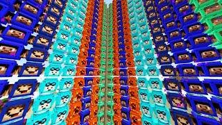 Minecraft 1VS1VS1VS1 YOUTUBER LUCKY BLOCK WALLS!   (Minecraft Modded Minigame)