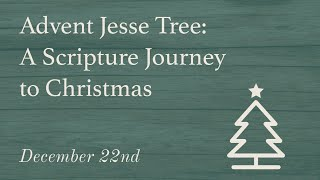 Day 22 | Advent Jesse Tree : A Scripture Journey to Christmas