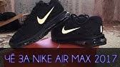af6a3e84 Кроссовки Nike Air Max 2017 Black Anthracite - YouTube