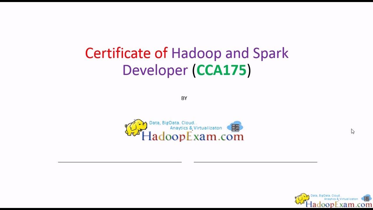 Cca175 Hadoop Spark Certification How To Prepare