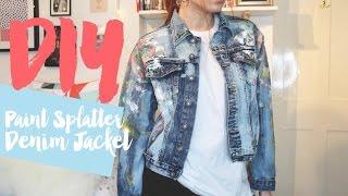 DIY Paint Splatter Distressed Denim Jacket | MsRosieBea