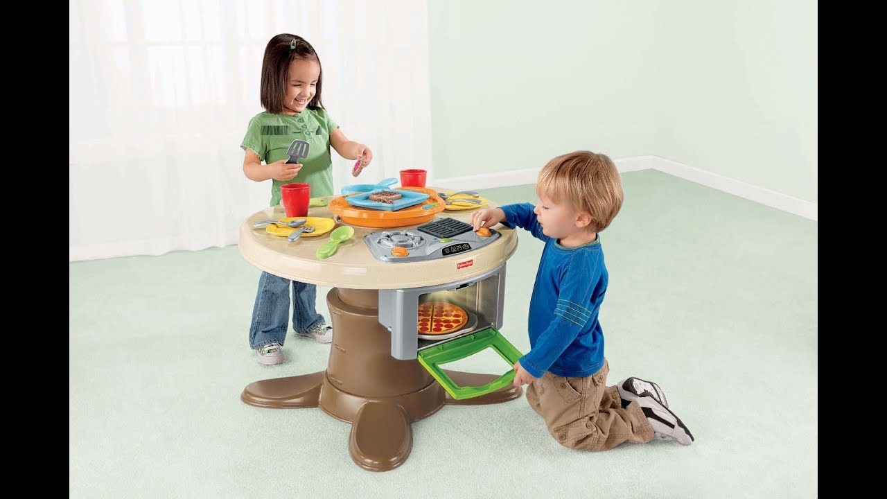 Fisher Price Servin Surprises Kitchen & Table Set Kids Toy Review ...