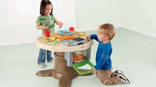 Fisher Price Servin Surprises Kitchen & Table Set Kids Toy Review