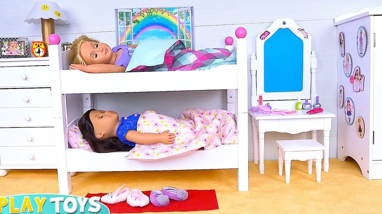 Baby Doll Sisters Morning Routine In Bunk Beds Room Youtube
