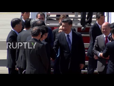 Germany: Xi Jinping greeted by Hamburg mayor at airport ahead of G20 Summit