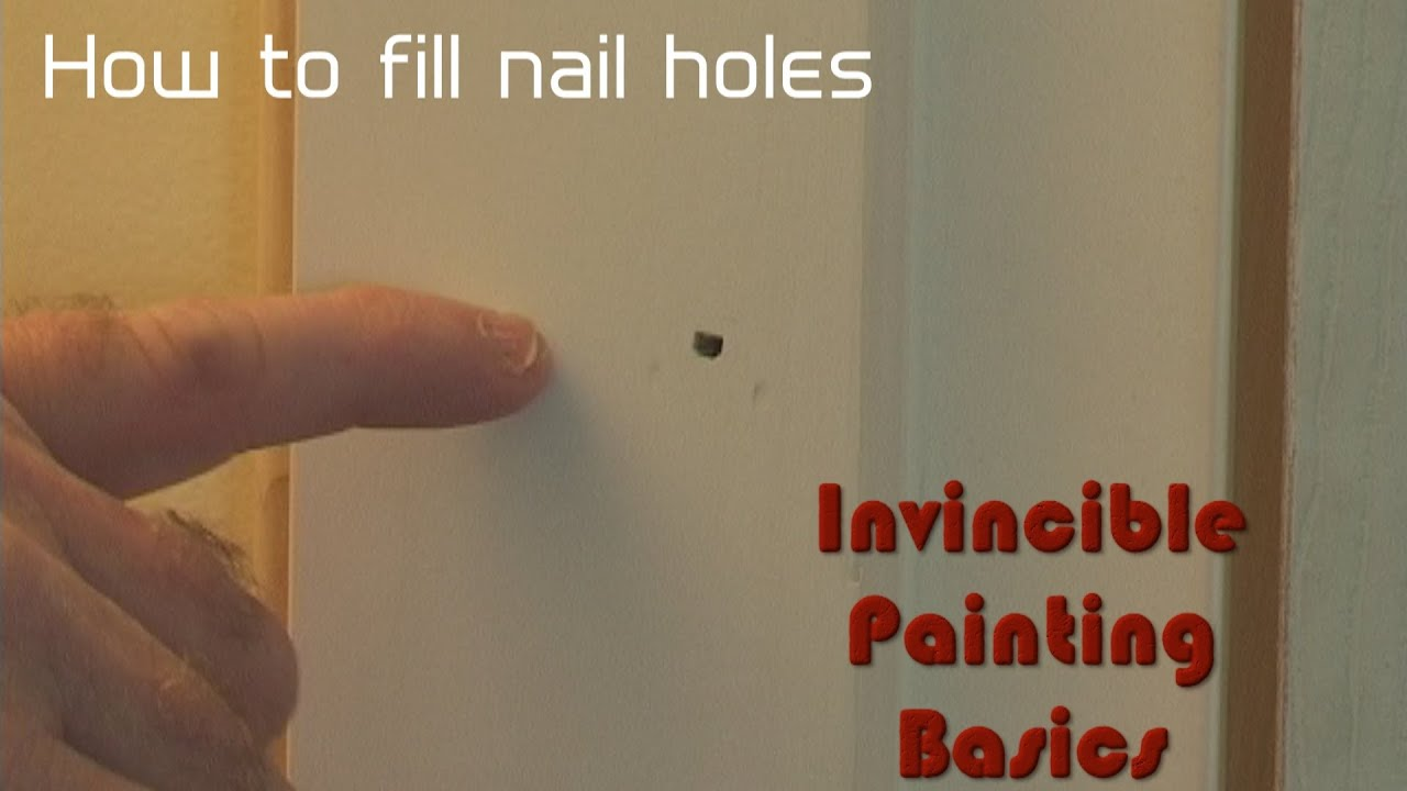 Putty nail holes super fast!! - YouTube