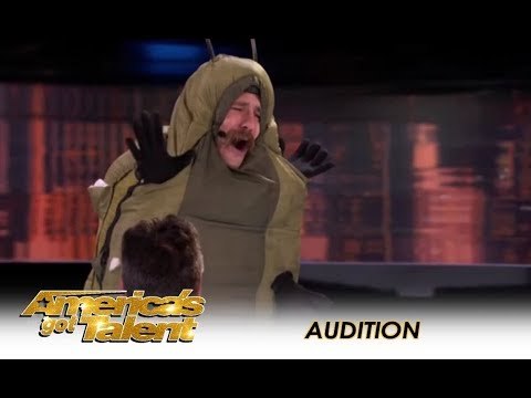 Annoying Human Caterpillar Gets BOOED Off Stage! | America's Got Talent 2018
