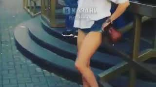 Drunk Russian woman shows everyone her panties, goes ballist