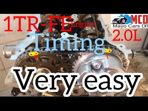 1TR-FE Engine Timing Chain Marks