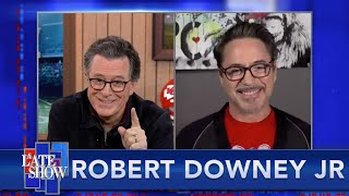"""I'm Going To Davos As Colbert"" - Robert Downey Jr. On His Plans For The Footprint Coalition"