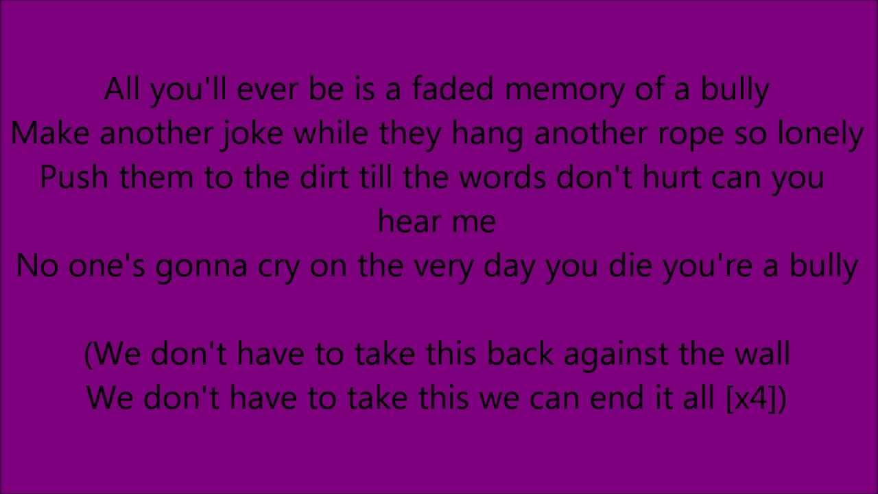 Lyrics for Bully by Shinedown - Songfacts