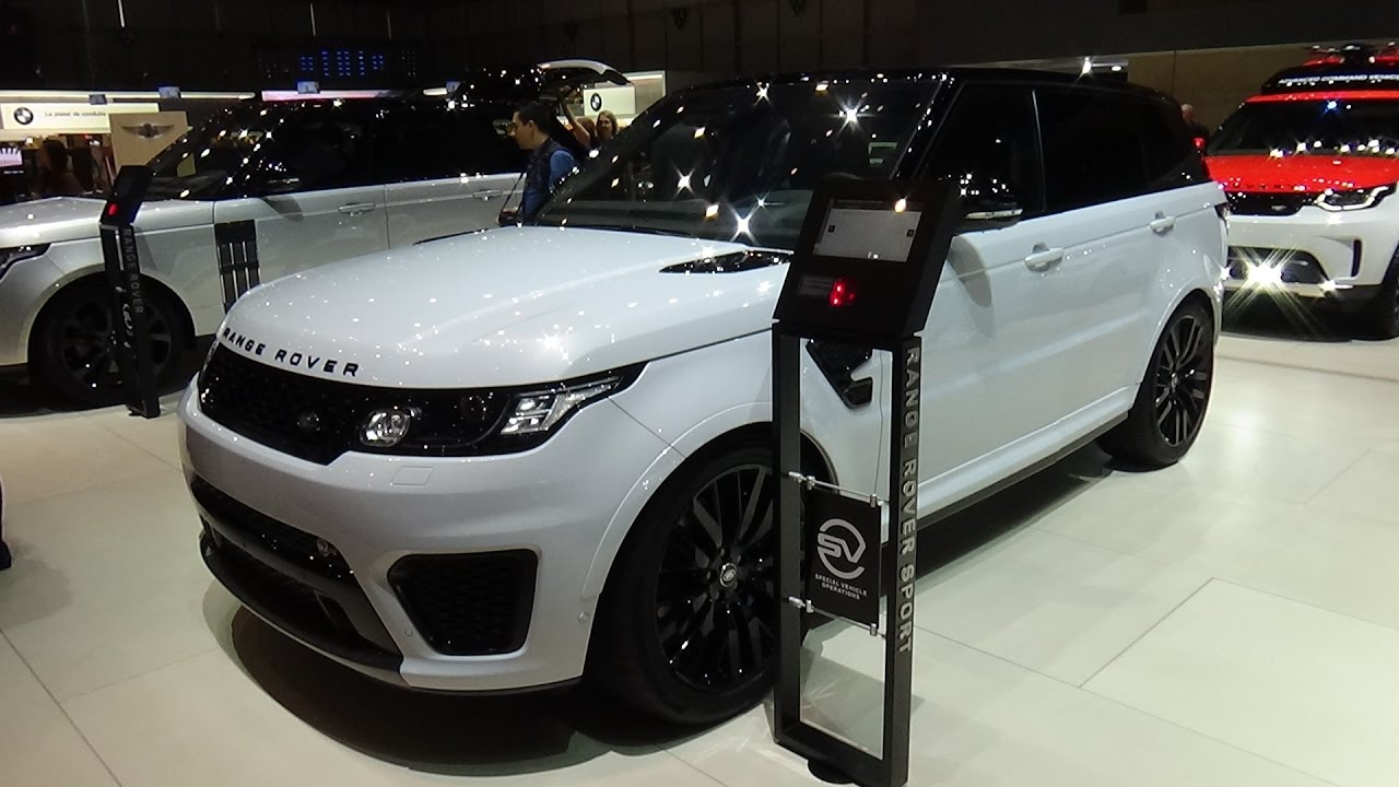 2018 land rover hse. contemporary 2018 2018 range rover sport svr  exterior and interior geneva motor show 2017 to land rover hse