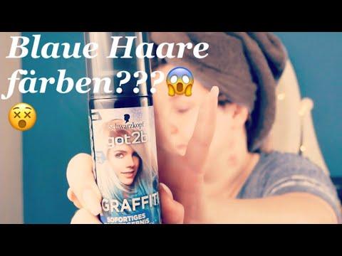 Haare blau färben ?!😱😵 Schwarzkopf Got2be Graffiti   TestTasty   bluehair   mermaidhair   balayag