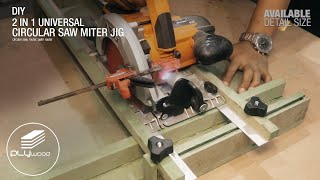 2 in 1 Universal  Circular Saw Miter Jig - circular saw, palm router & router