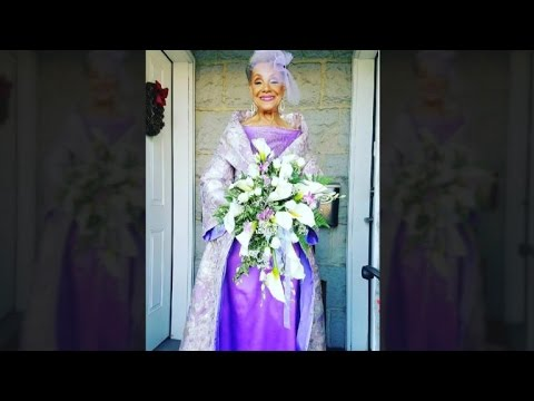 86-Year-Old Bride Stuns in Self-Designed Wedding Dress