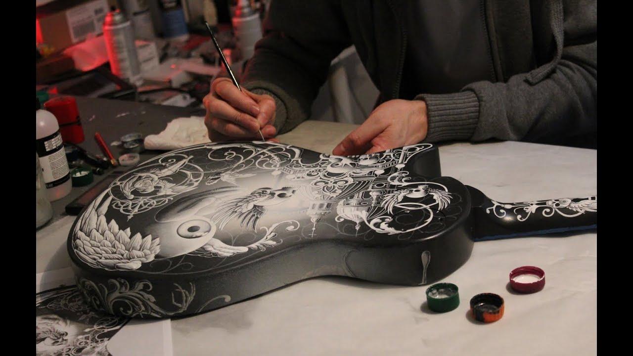 joe fenton custom painted prs guitar for rock guitarist mark tremonti. Black Bedroom Furniture Sets. Home Design Ideas
