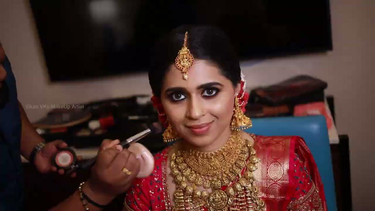 Hindu bridal makeup I Happy bride Stories at Thrissur  I Two looks I Vikas Vks makeup artist Kerala