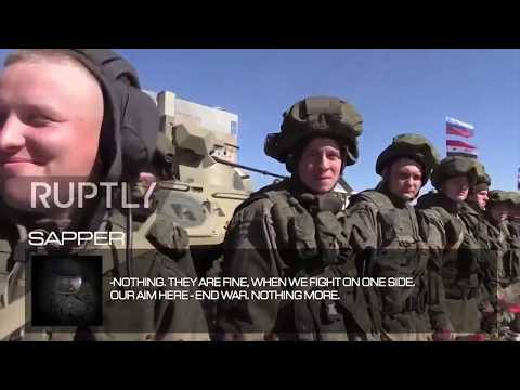 Interview with Russian sapper in Syria, 2017