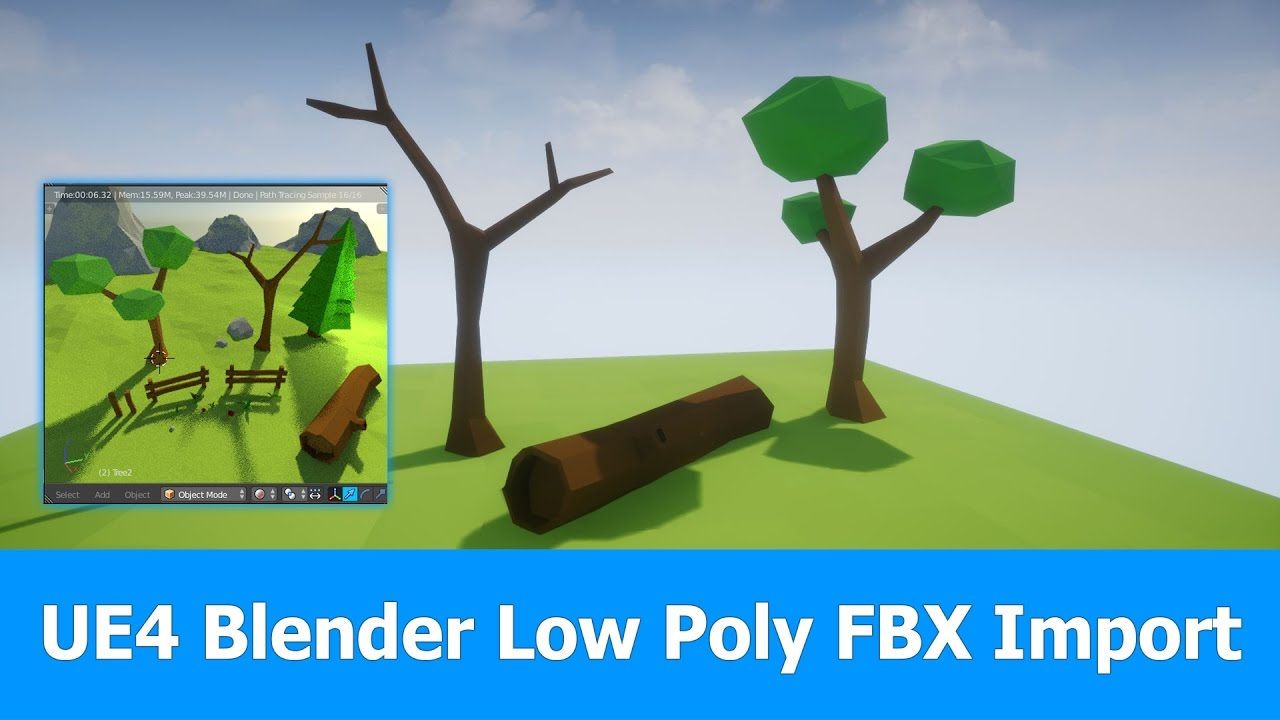 Export low poly models from Blender to UE4 - BlenderNation