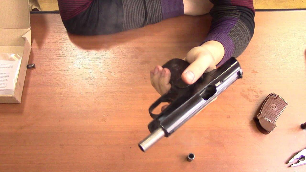 Baredda - сигнально-шумовые пистолеты 9 мм, обзор, стрельба. - YouTube