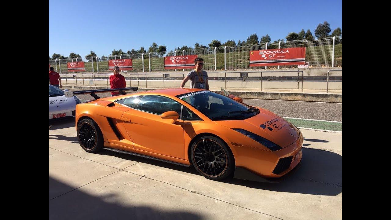 Pilotando Un Lamborghini Gallardo Con Formula Gt Youtube