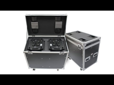 ProX 250 Style Moving Head Lighting Case for 2 Units - XS-MH250X2W MK2