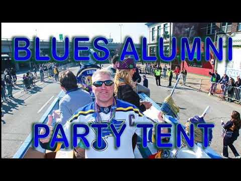 Blues Alumni Party Tent At St. Louis Mardi Gras