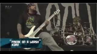 Korn Freak on a leash live Download Festival 2011