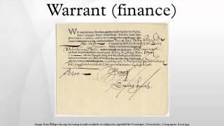 Warrant (finance)