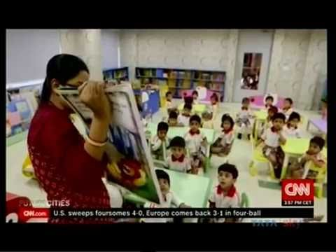 The Newtown School Kolkata featured by CNN International in the Future Cities of Asia