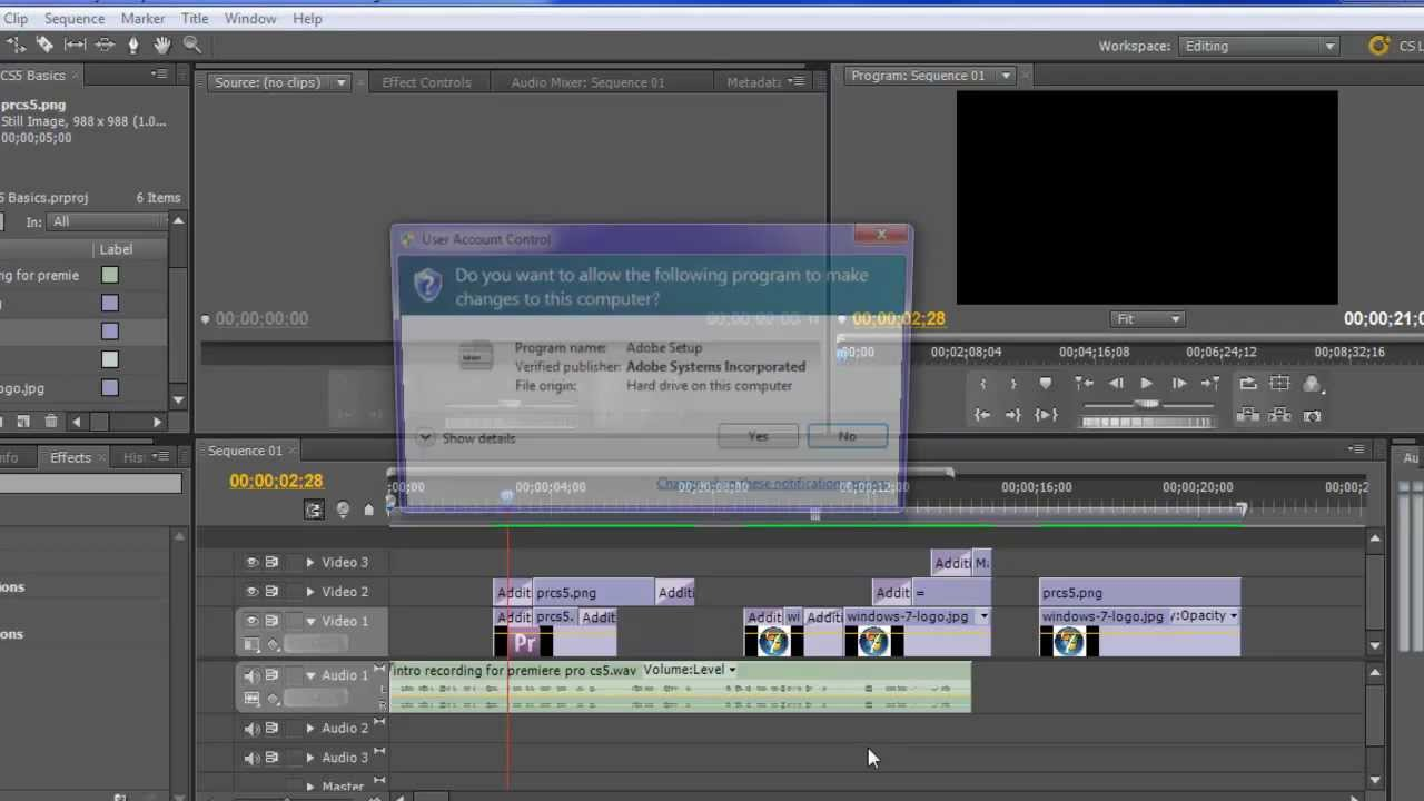 Adobe Premiere Pro CS5 Tutorial: Basics - YouTube