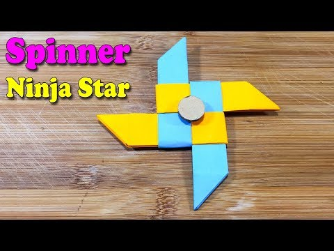 How to make a paper Fidget Spinner - Origami Ninja Star