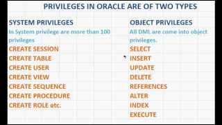 SQL Tutorial   How to grant System and Object Privileges in Oracle Database