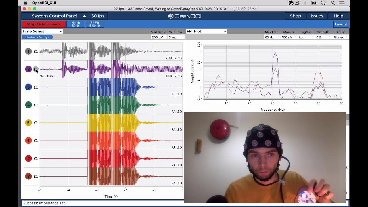 BCMI EEG diary 05 supercollider class test openbci 2 channels