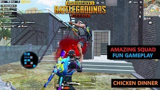 "[Hindi] PUBG MOBILE | AMAZING SQUAD FUN GAMEPLAY ""30 KILLS"" CHICKEN DINNER"