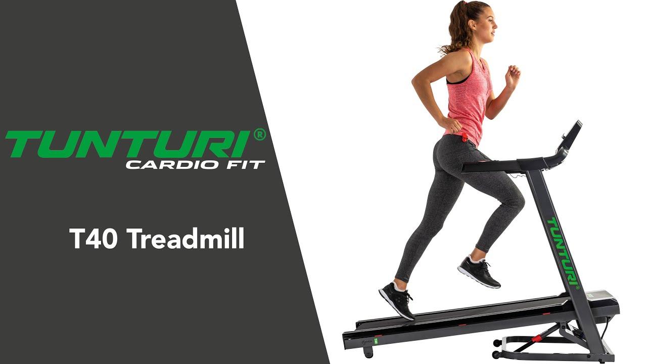 Tunturi Cardio Fit T40 Treadmill EN   Tunturi Fitness - YouTube