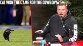 Pat McAfee Reacts To Cat On Field for Cowboys vs Giants