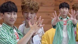 Hand sizes of 비투비 members.
