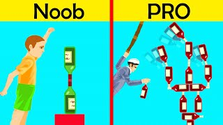 I Became The BEST BOTTLE FLIPPER In Happy Wheels!