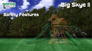 Wooden Swing Set For Kids Big Skye Ii