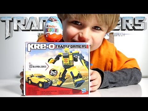 Transformers Car-Robot from Kre-O Hot Wheels Car from Kinder Surprise Egg