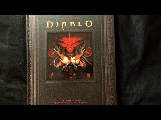 The Art of Diablo Artbook flip through