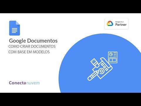 Como cria um arquivo de documento com base em modelos