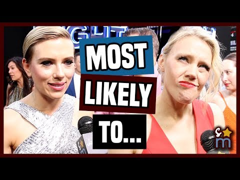 "ROUGH NIGHT Cast Plays ""Most Likely To"" Game - Scarlett Johansson, Kate McKinnon Interview"