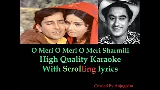O Meri O Meri O Meri Sharmili || Sharmilee (1971) || Karaoke with scrolling lyrics (High Quality)