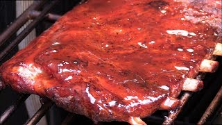 TENDER Sticky Sweet BBQ Pork Spare Ribs - How to Smoke Pork Ribs - The Wolfe Pit